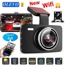 Автомобильный видеорегистратор 1080P, видеорегистратор с Wi-Fi, видеорегистратор, Автомобильный регистратор с ночным видением и камерой заднег...
