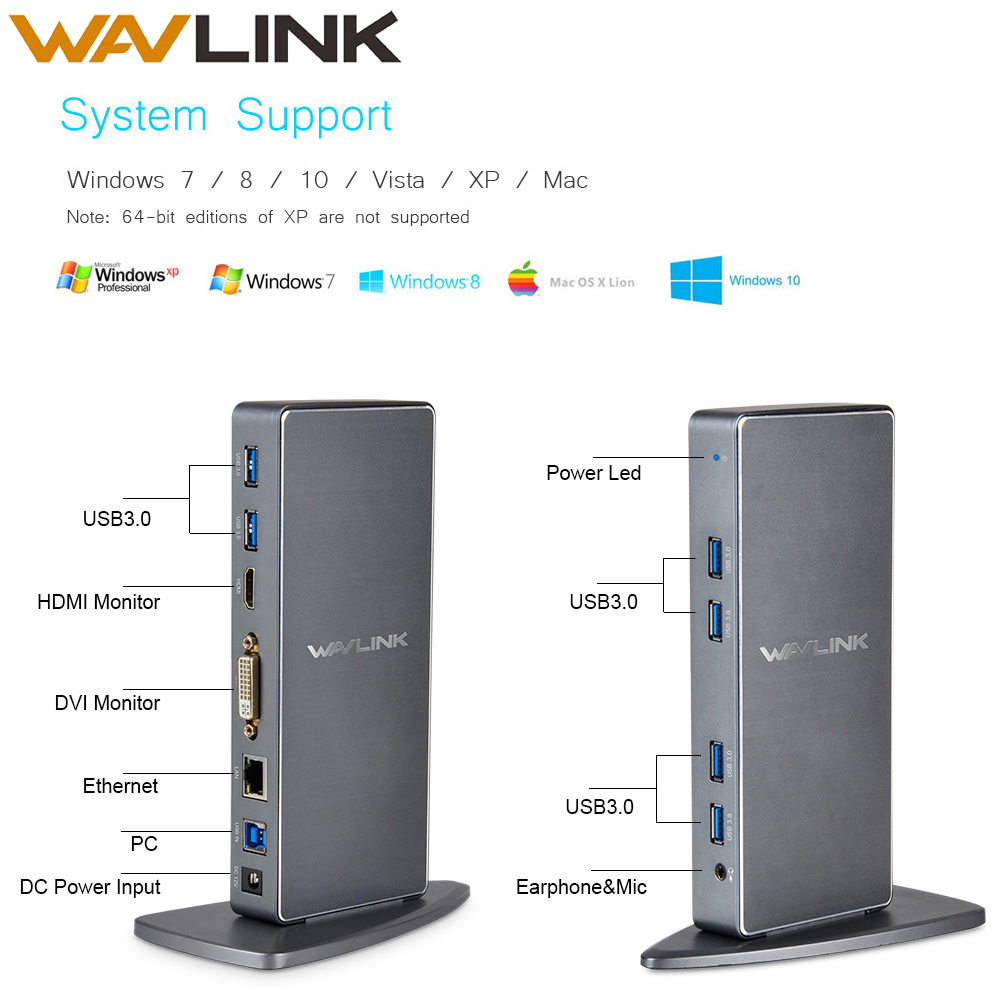 Full HD 2048x1152 replicador de puertos Universal USB 3,0 + RJ45/DVI/HDMI/VGA/MIC/puerto de Audio de DisplayLink Gigabit Ethernet trabajando en línea NEMA 6-20R LK5620R toma de acoplamiento de aire 20A conector Industrial asiento generador
