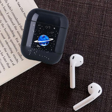 Simple Star Earphone Case For Apple airpods Universe Bluetooth Airpods Hard plastic