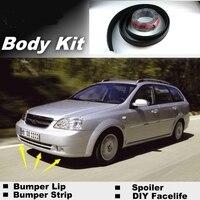 NOVOVISU Für Daewoo Nubira 2002 ~ 2008 Lip Lippen/Top Getriebe Shop Spoiler Für Auto Tuning/TOPGEAR Empfehlen Body Kit + streifen