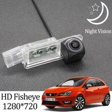 Owtosin HD 1280*720 balıkgözü arka görüş kamerası için koltuk Ibiza FR 2009 2010 2011 2012 2013 2014 2015 2016 2017 Ca ters monitör