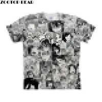 Bouche ouverte Ahegao impression 3D femmes t-shirts voyage été t-shirt hommes t-shirt t-shirt à manches courtes chemise Streetwear livraison directe ZOOTOPBEAR