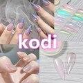 Пудра для ногтей kodi aurora, блестящее зеркало с эффектом русалки, хромированный пигмент, УФ-Гель-лак, блестящая пыль, сделай сам, украшения ногт...