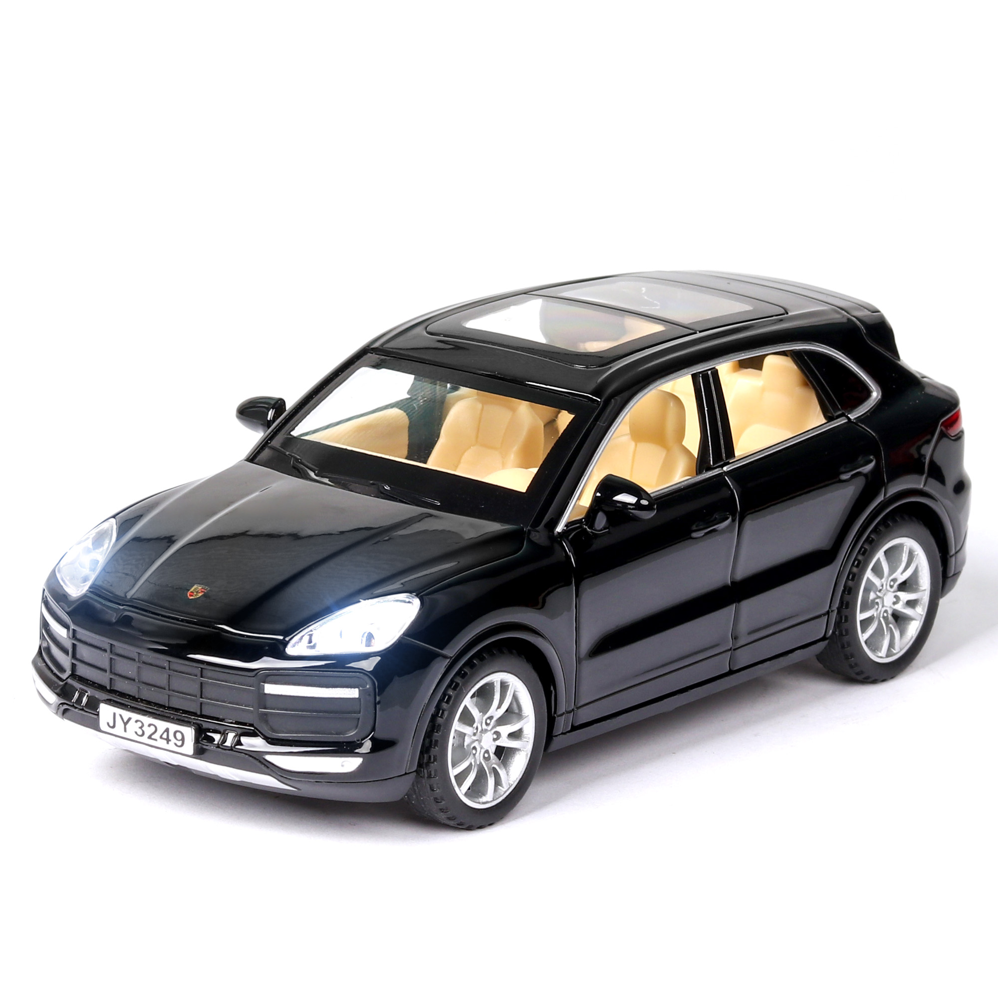 1:32 High Simulation Porsches Cayenne Alloy Car Model Sound And Light 6 Door Metal Pull Back Kids Toys Car For Children Gifts
