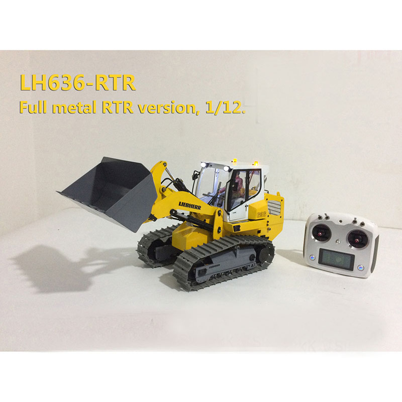 LQ-2 New 1/12 Track Tractor Loader Forklift Hydraulic Model All Metal Remote Control Christmas Ceremony