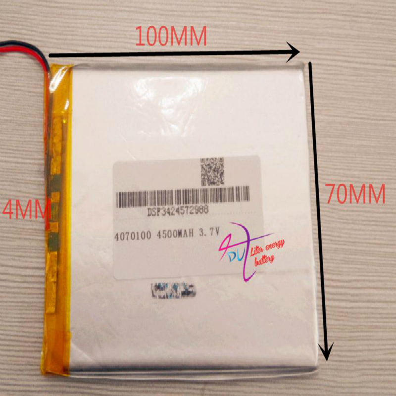 best battery brand 1PCS 3.7V 4500MAH <font><b>4070100</b></font> tablet with protection board For MID 7inch Tablet PC image