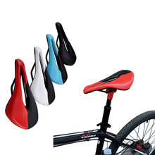 Bicycle Seat Saddle MTB Road Bike Cushion 250x150 Hollow Streamlined Design Bike Saddle MTB Mountain Cycling Seat Bicycle Saddle free shipping new syun lp bicycle saddle ergonomic spider seat mtb mountain bike cushion ventilation durable cycle accessories