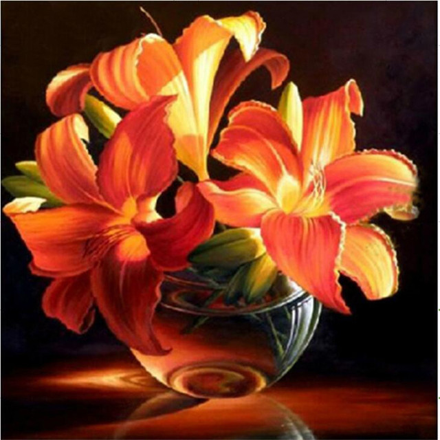 Broderie Diamant Bouquet