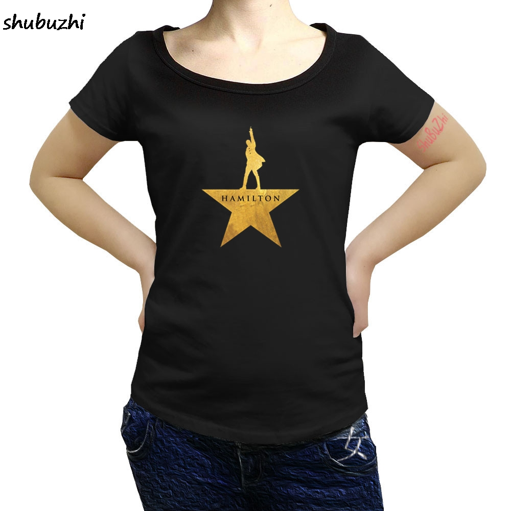 hamilton Summer casual women T-Shirt American Musical Broadway Gold Star Cotton O-Neck Short high quality women T-Shirt sbz3227 1
