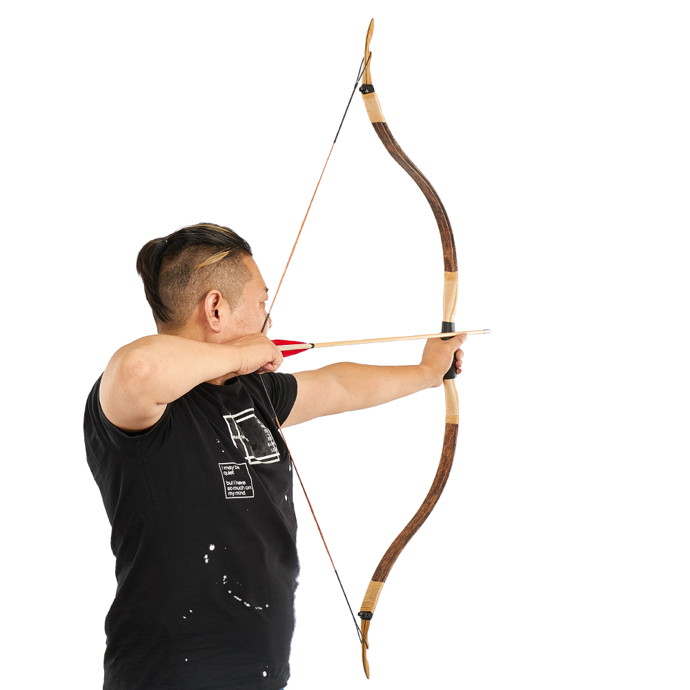recurvo arco para tiro ao alvo ao ar livre prática