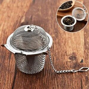 Image 5 - Filtro de chá verde de folha solta do filtro do saco de chá do metal reusável do infusor do chá do aço inoxidável do filtro do chá da malha para o chá do bule da caneca