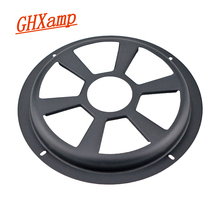 GHXAMP 8 inch Grill Mesh Car Subwoofer Speaker Protective Cover For Car Woofer Audio Black Iron Matte 1pc