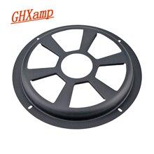 GHXAMP 8 אינץ גריל רשת רכב סאב רמקול מגן כיסוי עבור רכב וופר אודיו שחור ברזל מט 1pc
