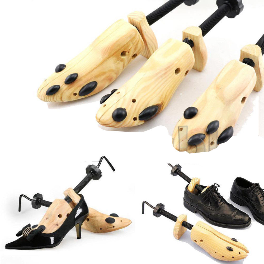 BSAID 1 Piece Shoes Stretcher Wooden Shoe Tree Shaper Rack,Wood Adjustable Zapatos De Homb Expander Trees Size S/M/L Man Women