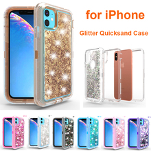 Hybrid 3D Glitter Armor Case for iPhone