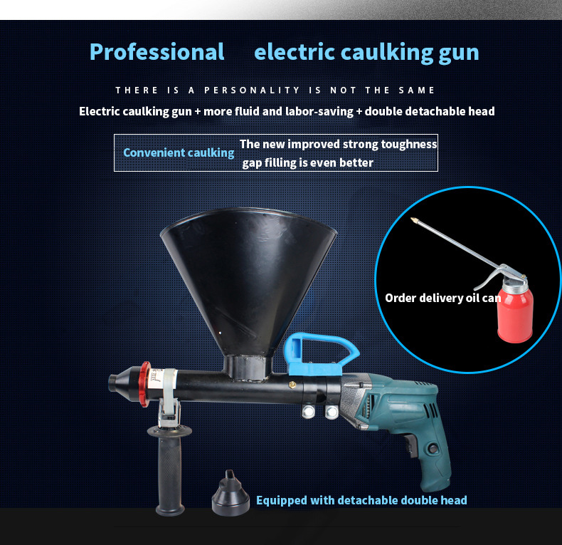 H343cedcd8a1544479027b67efa0c40a65 - Anjieshun Hight-quanlity electric anti-theft door cement mortar grouting machine caulking gun electric caulking cement grouting