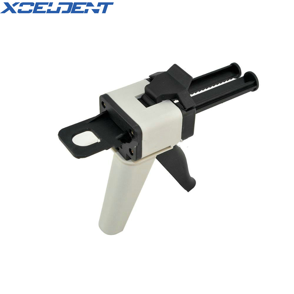 Dental Universal Fitting 1:1 Ratio Glue Gun For Impression Mixing Dispenser Dispensing Caulking Gun 50ml Dental Lab Equipment