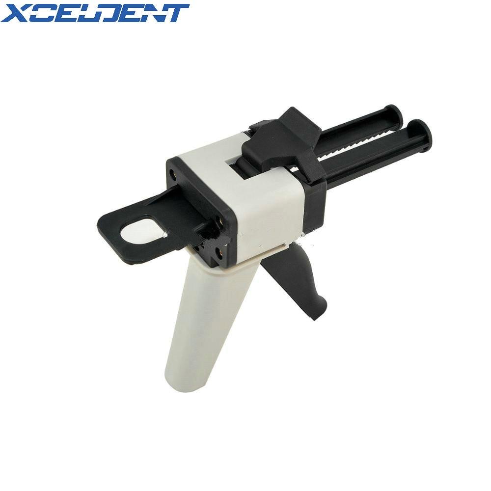 Dental Universal Fitting 1:1 Ratio Glue Gun For Impression Mixing Dispenser Dispensing Caulking Gun 50ml Dental Lab Equipment