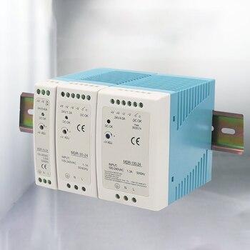 MDR-10 20 30 40 60 100 12V 24V  10W 60W100W Din Rail power supply ac-dc driver Transformers for LED Strip Light 120V to 370V