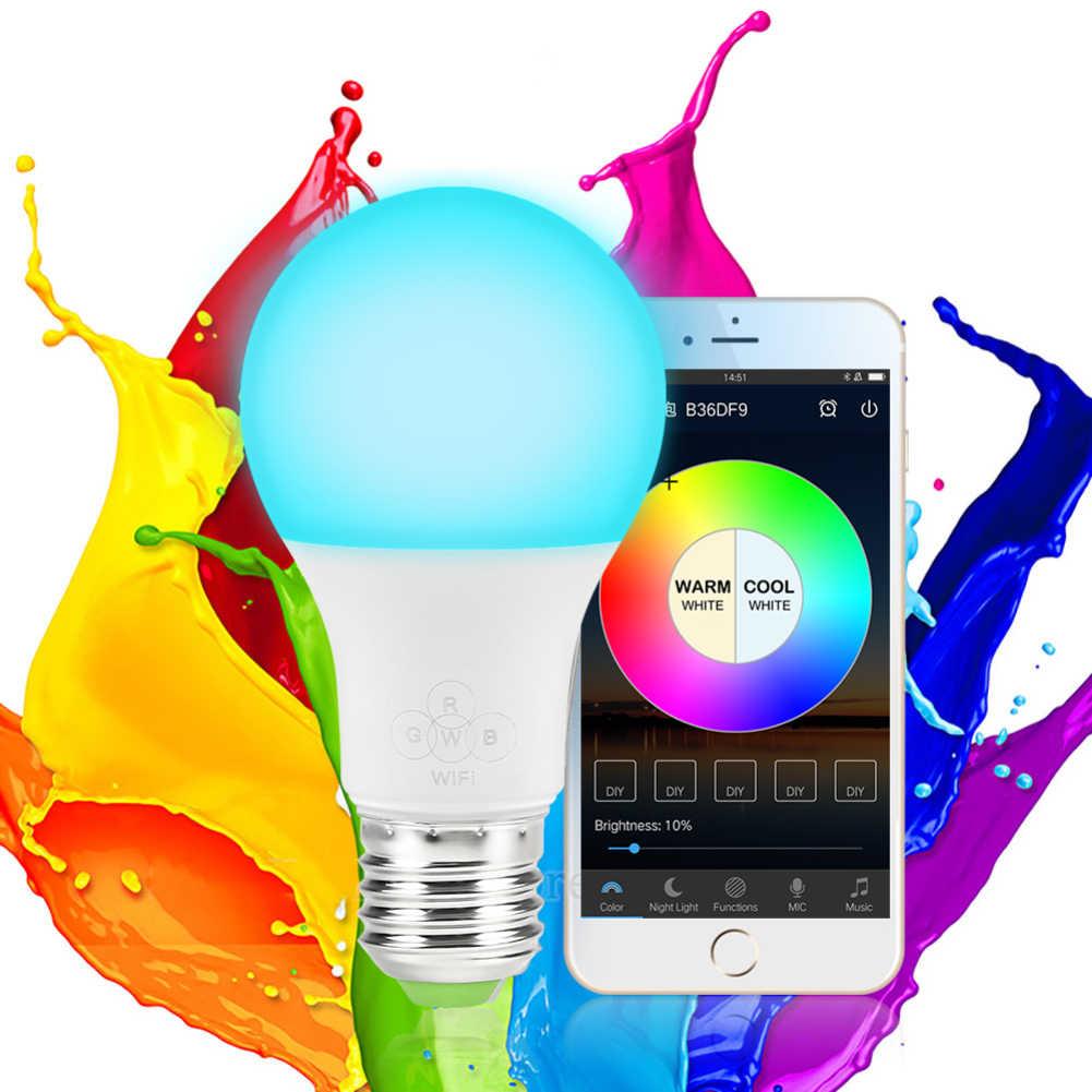 1/3 pièces E27 WiFi ampoule intelligente lumière LED 4.5 W/6.5 W RGB lumière magique Compatible avec Alexa Google maison intelligente famille réveil