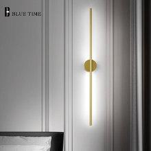 цена на 12W Gold Sconce Wall Light Barthroom Lamp Indoor Modern Led Wall Lamp Living room Bedroom Corridor Light Bathroom Mirror Lights