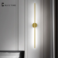 12W Gold Sconce Wall Light Barthroom Lamp Indoor Modern Led Wall Lamp Living room Bedroom Corridor Light Bathroom Mirror Lights