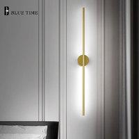 12W Gold Sconce Wall Light Barthroom Lamp Indoor Modern Led Wall Lamp Living room Bedroom Corridor Light Bathroom Mirror Lights