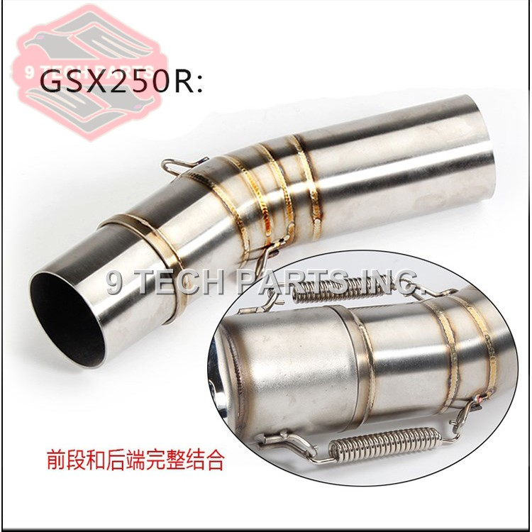Motorcycle <font><b>Exhaust</b></font> middle pipe Connect Pipe Muffler Escap link pipe middle section adapter pipe for <font><b>SUZUKI</b></font> <font><b>GSX250R</b></font> GSX 250R image