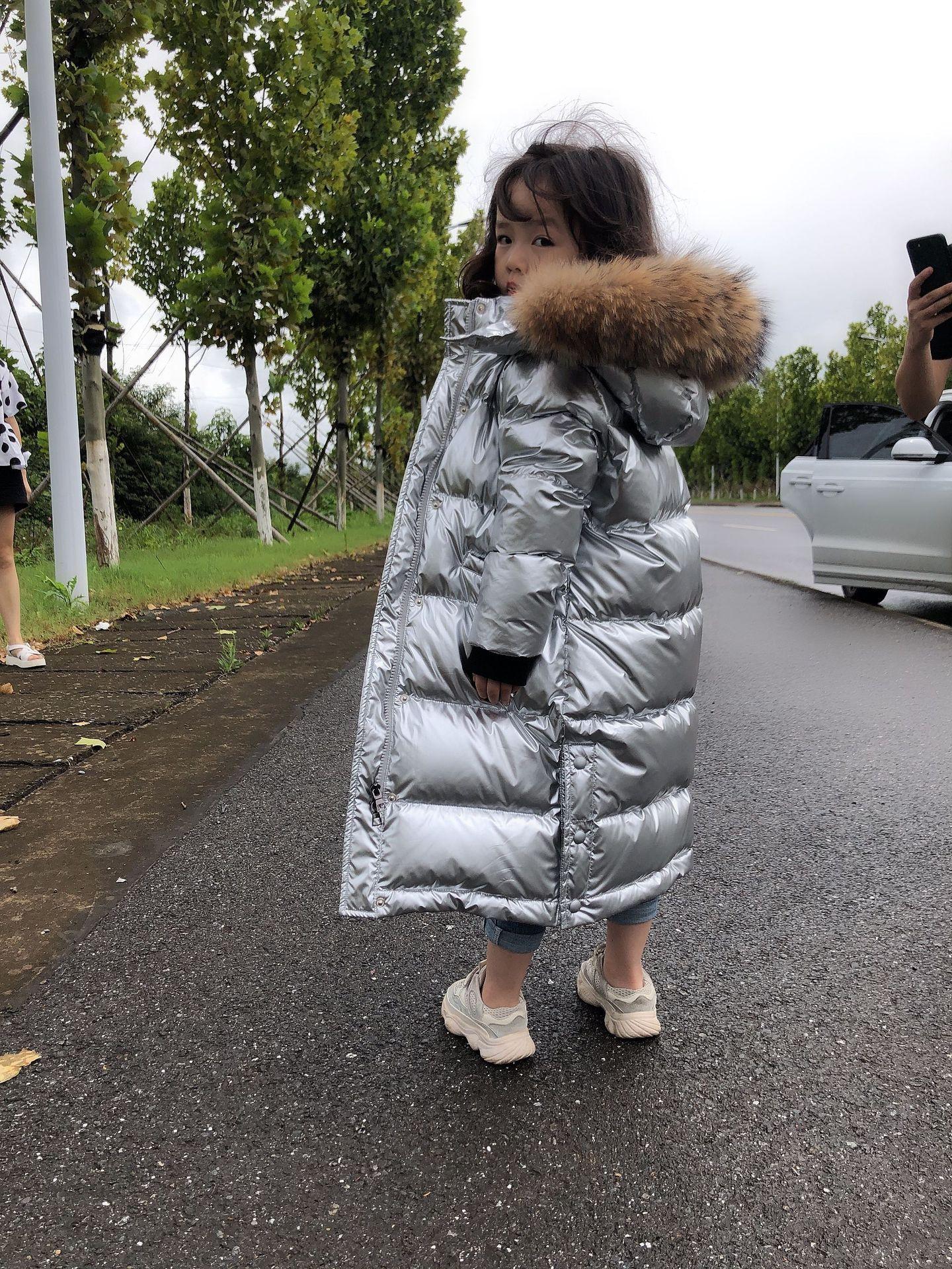 OLEKID 2020 русская зимняя пуховая куртка для девочек Водонепроницаемая блестящая теплая зимняя куртка для девочек От 5 до 14 лет парка для девоче...