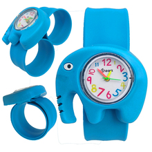 3D Elephant Watch Children Learning Time Toy Clock Girls