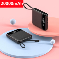 20000mAh Mini Power Bank Portable External Battery Fast Charger Powerbank For Xiaomi Mi iPhone 11 Samsung S8 S9 Mini Pover Bank Power Bank     -