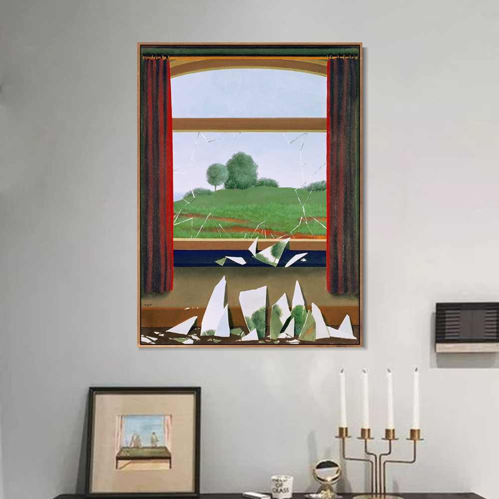 Poster And Prints Modern Canvas Painting Wall Art key of the fields, 1936 By Rene Magritte Wall Picture Bedroom Home Decor