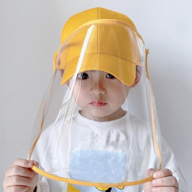 Multifunctional children's baseball Anti-saliva Dustproof Face Cover Mask Baseball Cap Children Kids Protective Hat sun hat