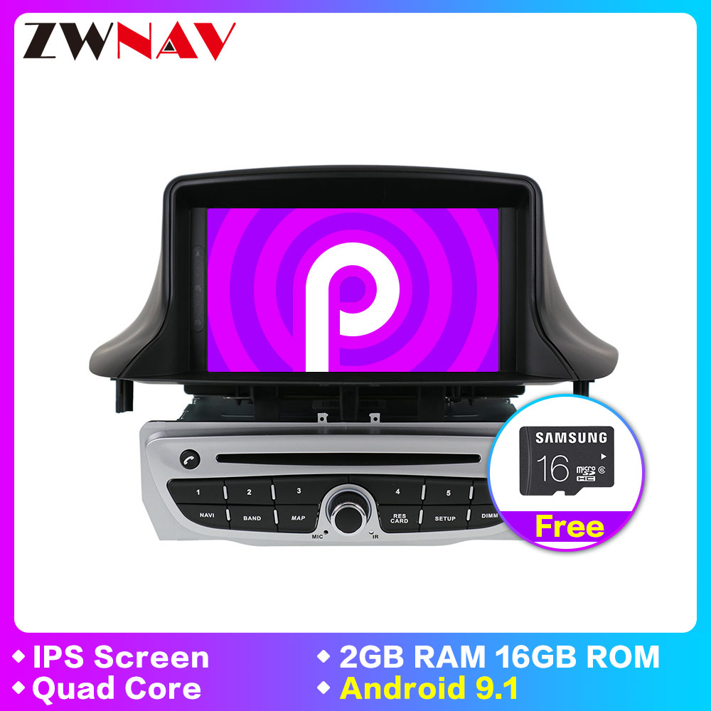 Quad core Android 9.1 Car Stereo DVD Player <font><b>GPS</b></font> Glonass Navigation for Renault <font><b>Megane</b></font> <font><b>3</b></font> Fluence Video Multimedia Radio head unit image