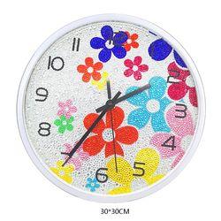 Kwiat zegarek DIY diament zestawy do malowania  dekoracje ścienne z kolorowe diamenty  dzieci sztuka i rzemiosło zestaw zawiera mechanizm zegara  G