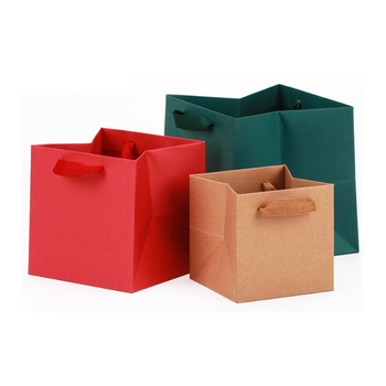 Bolsas cuadradas de papel para regalo de Navidad, cajas de cartón para...