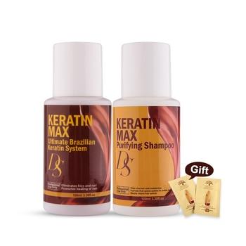 100ml Brazilian Keratin Treatment 0%-12% 4 Formaldehyde Straightening Resistant Hair+100ml Purifying Shampoo недорого