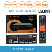 цены satellite receiver+cccam cline for 1 year europe GTmedia V9 Super DVB-S2 H.265 decoder with built-in WIFI Support Mgcam