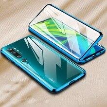מתכת מגנטי ספיחה מקרה עבור Xiaomi Redmi הערה 8 פרו 7 K20 Mi 9T 10 פרו כפול צדדי זכוכית 360 מלא הגנה Flip כיסוי