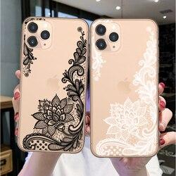 Роскошные Чехлы LOVINA для телефонов iPhone 11 Pro Max, мягкий чехол с кружевными цветами для iPhone SE 6 6s 7 8 Plus X XR XS Max