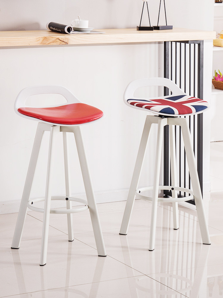 Iron Bar Stool Modern Minimalist High Stool Bar Chair Lift Bar Stool Home Back Stool Nordic Bar Chair