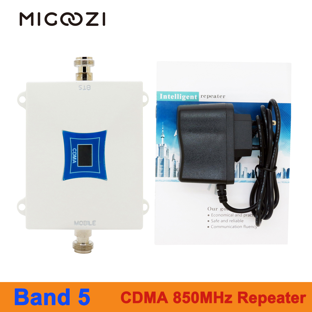 MIGOOZI CDMA 850MHz Signal Repeater 2G 3G 4G Mobile Phone LTE Cellular Booster Amplifier Band 5
