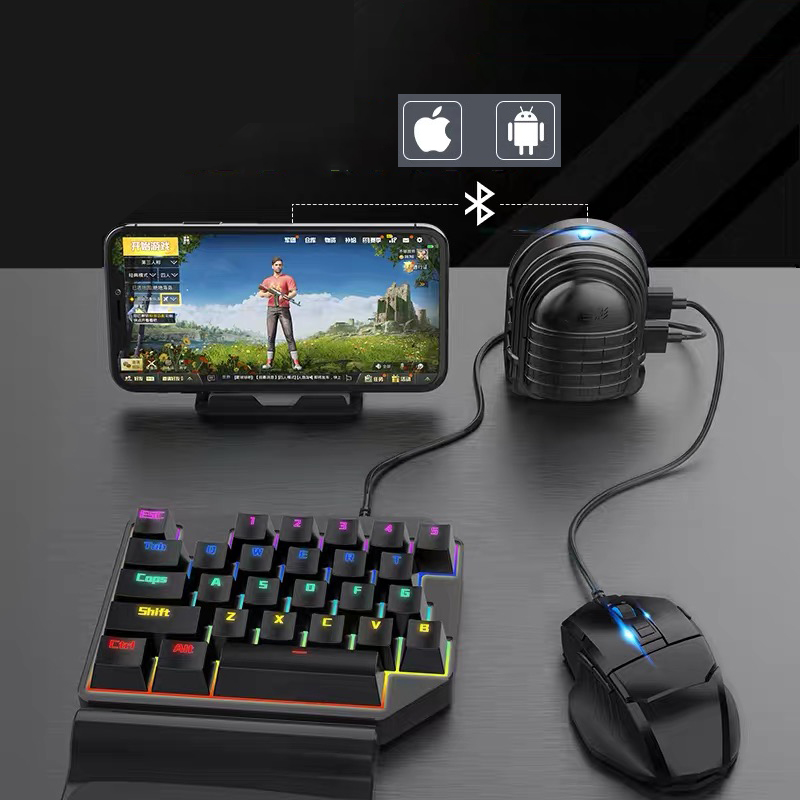 Pubg Wireless Gamepad <font><b>Bluetooth</b></font> or <font><b>USB</b></font> Pubg Controller Mouse and <font><b>Keyboard</b></font> <font><b>Converter</b></font> for Iphone Android Ipad <font><b>to</b></font> PC image