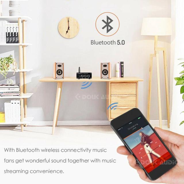 Nobsound Mini TPA3116 Digital Audio Amplifier HiFi Bluetooth 5.0 Class D Stereo Power Amp 100W*2