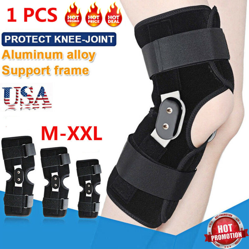1Pc Hinged Knee Arthritis Support Guard Stabilizer Strap Wrap Sports Knee Pads Brace