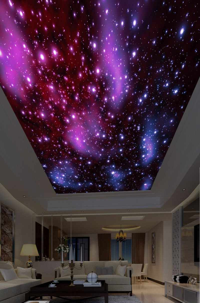 Fantasy Starry Sky Roof Painting Ceiling Wall Murals Living Room Bedroom Ceiling Mural Decor Wallpapers Aliexpress