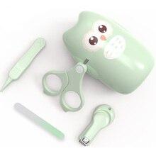 Scissor Nail-Trimmer Manicure-Kit Newborn-Baby Children Safe with Box File-Tweezer Portable