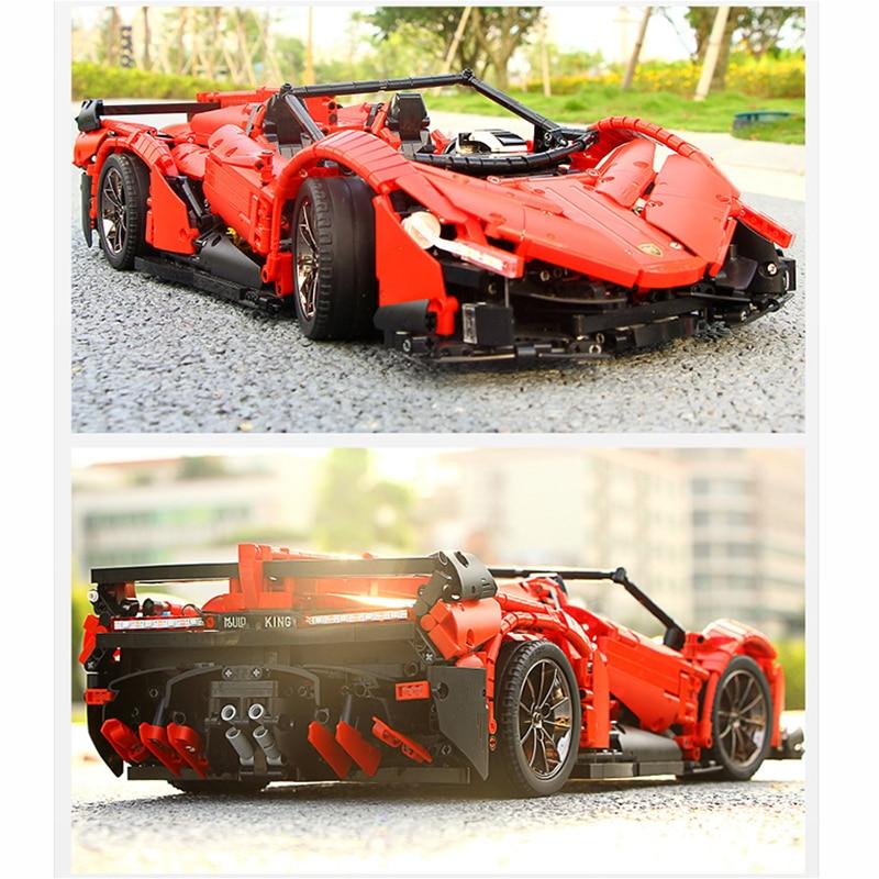 13079 poison RC Car MOC 10559 Veneno Roadster Motor Power Functions Fit App for legoing Technic Building Blocks Bricks Toys Gift 25