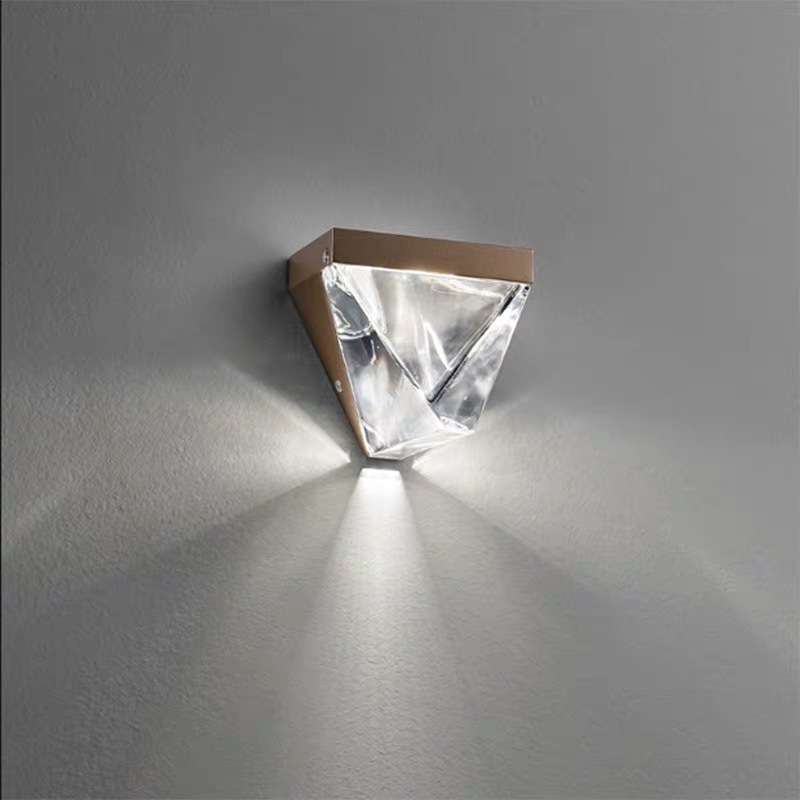 LED Crystal Wall Lamp Modern Minimalist Bedroom Bedside Hallway Corridor Entrance Background Light Luxury Wall Lamp