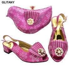 Новое поступление; комплект из туфель и сумочки в африканском стиле; итальянская женская обувь с сумочкой в комплекте; весенняя обувь; женская обувь на платформе